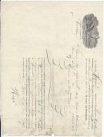 Connaissement Maritime/Transpt Morues Séches /Capt Houzé/Navire Emile-Auguste/SaintPierre TerreNeuve/Marseille/1867 MAR6 - Transports