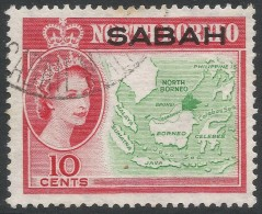 Sabah (Malaysia). 1964 QEII Stamps Of North Borneo Overprinted. 10c Used. SG 412 - Sabah