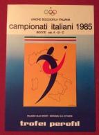 SPORT BOCCE  BERGAMO  1985 CAMPIONATI ITALIANI BOCCE RAFFA  -  CARTOLINA ED ANNULLO SPECIALE - Pétanque