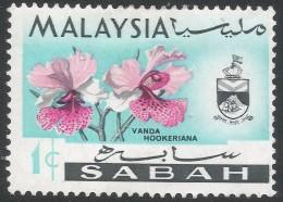 Sabah (Malaysia). 1965-68 Orchids. 1c MH. SG 4424 - Malaysia (1964-...)