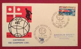 SPORT BOCCE  CRITERIUM DEI CAMPIONI U.B.I. TREVISO 1971 BUSTA ED ANNULLO SPECIALE - Pétanque