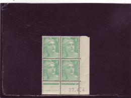 N° 807 - 4F Marianne De GANDON - B De A+B - 1° Tirage Du 26.4.48 Au 10.5.48 - 27.04.1948 - - Coins Datés