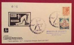 SPORT BOCCE  CAMPIONATO MONDIALE  BOCCE A COPPIE COPPA PRINCIPE DI MONACO   NOVARA 1981  ANNULLO SPECIALE - Pétanque