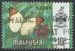 Sabah (Malaysia). 1971 Butterflies. 10c Used. SG 436 - Malaysia (1964-...)