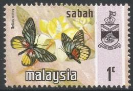 Sabah (Malaysia). 1971 Butterflies. 1c MH. SG 432 - Malaysia (1964-...)