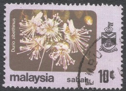 Sabah (Malaysia). 1979 Flowers. 10c Used. SG 448 - Malaysia (1964-...)