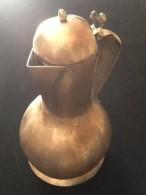 Art Populaire Ancienne Théière - Cuivres