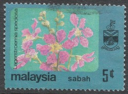 Sabah (Malaysia). 1979 Flowers. 5c Used. SG 447 - Malaysia (1964-...)