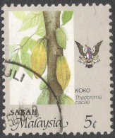 Sabah (Malaysia). 1986 Agricultural Products. 5c Used. SG 461 - Malaysia (1964-...)