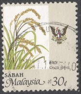 Sabah (Malaysia). 1986 Agricultural Products. 30c Used. SG 465 - Malaysia (1964-...)