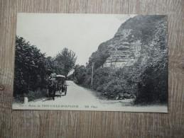 CPA 14 ROUTE DE TROUVILLE HONFLEUR CALECHE - Trouville