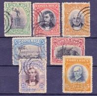 COSTA RICA - 1901/1910 -  Y&T Nrs. 41,42,43,44,45,53 En 68 - Used/Obliteré/gestempeld/gebraucht - ° - Costa Rica