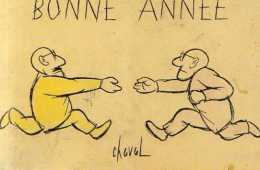55 BORDEAUX Musee Des Beaux Arts Cours D'Albret, Bonne Annee, Illustrateur Chaval, Cliche Gauthier - Bordeaux