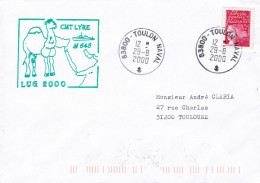 CHASSEUR DE MINES  CMT LYRE M648  LUG 2000 TOULON NAVAL 29/08/2000 - Poststempel (Briefe)