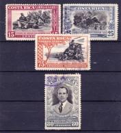 COSTA RICA - 1950 - Y&T Nrs. 188,190,193 En 194 Of Mi Nrs. 452,454,457 En 458 - Used/Obliteré/gestempeld/gebraucht - ° - Costa Rica