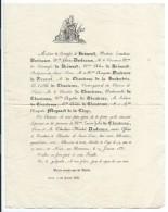 Epoque Louis-Philippe/La Comtesse De Brémont/Duchesne De Vauvert/Louise Julie De CHANTREAU/NIORT/Deux Sévres /1835 FPD68 - Décès