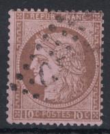 France - OBLITERATION GC Sur TB Cérès Dentelée N° 54 10c Brun Sur Rose (gros Chiffres) - 1871-1875 Cérès