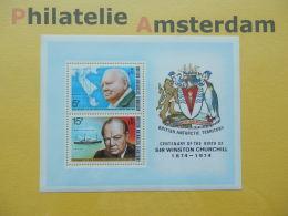 Br. Antarctic Terr. (BAT) 1974, CHURCHILL: Mi 62-63, Bl. 1, ** - Sir Winston Churchill