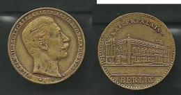 Medaille - Berlin- Kaiserpalais U. Wilhelm II. Messing - Pièces écrasées (Elongated Coins)