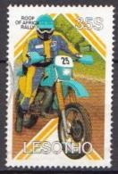 Lesotho Used Stamp - Motorbikes