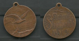 Orden Medaille National-Flugspende 1912 Bronze Luftfahrt - Militaria 1.WK - Souvenirmunten (elongated Coins)