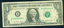 United States Of America. One Dollar. BOSTON MASSACHUSETTS. 1977 Used - Federal Reserve (1928-...)
