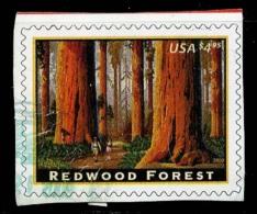Etats-Unis / United States (Scott No.4378 - Red Wood Forest) (o) Cut Square / Découpé - United States