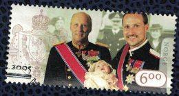 Norvège 2005 Oblitéré Used King Roi Haakon - Gebraucht