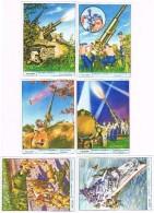 17862. Serie Completa 6 Cromos  GALLICROMO, Serie 10, Guerra Artilleria Moderna - Historia