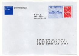 PAP REPONSE--Marianne De Lamouche-Fondation De France--Lot 07P706 Interne NF316/12--LC D/16 1207 - Entiers Postaux
