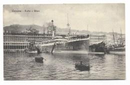 GENOVA PORTO E SILOS  1921  VIAGG. FP - Genova (Genoa)