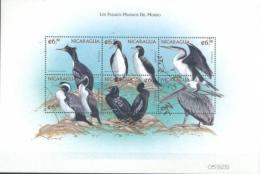 NICARAGUA SHEET OISEAUX BIRDS AVES PAJAROS - Zonder Classificatie