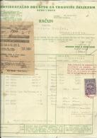 CROATIA, ZAGREB  --  KERN I Drug  --  JEWISH  STORE --  KONT. DR. ZA TRGOVINU --   FACTURA  --  WITH TAX STAMP  --  1928 - Rechnungen