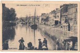 -29-  QUIMPER  Le Port Et Le Quai écrite TTB - Quimper