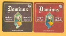 2 S/b Bière Dominus Brune / Blonde - Sous-bocks