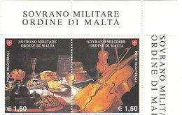 SMOM  2008 NATURA MORTA CON STRUMENTI MUSICALI - ARTE PITTURA - INTEGRI - Sovrano Militare Ordine Di Malta