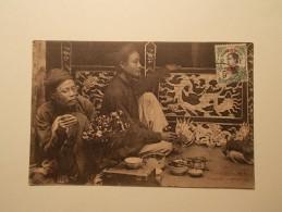 Carte Postale - Marcophilie -  TONKIN - Hanoi - Peintres Décorateurs  (1182/183) - Indochina (1889-1945)