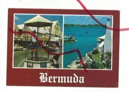 Cpm St001825 Bermudes 2 Vues Sur Carte , Policeman Et Ferry Boat Port Hamilton - Bermudes