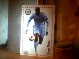 CARD FOOTBALL ; YAYA TOURE - Bierviltjes