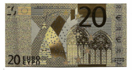 BILLET - 20 EURO EN OR FIN CARAT - EURO