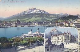Suisse - Lucerne Luzern - Hôtel Minerva - 1912 - LU Lucerne