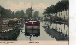 VAILLY-SUR-AISNE CHARGMENT DES PENICHES SUR LE CANAL (CARTE COLORISEE) - Non Classés