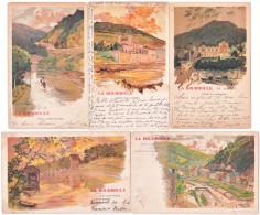 63. LA BOURBOULE. Série De 9 Cartes Lemercier - La Bourboule