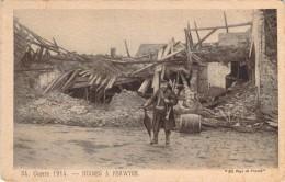 CPA  Guerre 1914 Ruines A Perwyse  (animée)  H1025 - War 1914-18