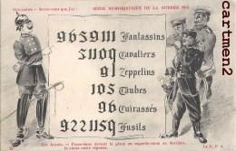 CARICATURE PATRIOTIQUE KAISER GUILLAUME II CARTE A REGARDER A L'ENVERS LES ALLIES RUSSIE DEUTSCHLAND GUERRE - Patrióticos