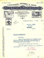 FA798 / FACTURE   CAMEMBERT  UNION LAITIERE DES FERMIERS D'ISIGNY  SAINT GERMAIN DU PERT   (CALVADOS) (FORMAT A 4) - 1900 – 1949