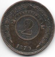 Paraguay 2 Centavos 1870 Km3  Vf+ - Paraguay