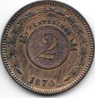 Paraguay 2 Centavos 1870 Km3  Xf+  !!!!! - Paraguay