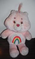 Bisounours Rose Vintage 32 Cm Avec Arc En Ciel - Cuddly Toys