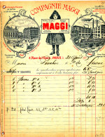 FA 839 / FACTURE    COMPAGNIE  MAGGI  PARIS 1903    (FORMAT A 4 ) - France